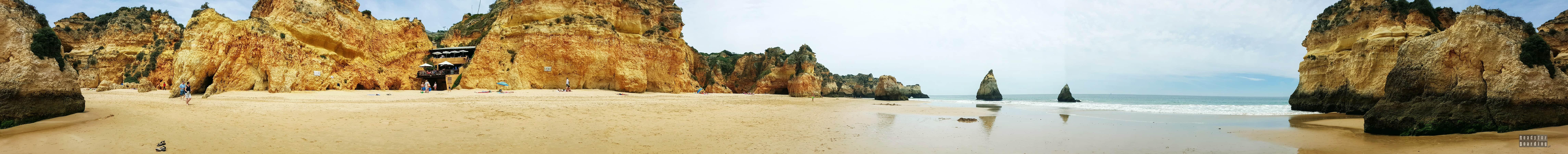Panorama: Praia dos Três Irmãos, Algarve, Portugalia