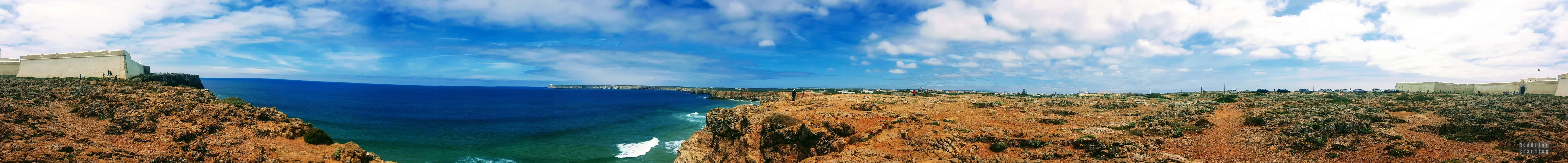 Panorama: Ponta de Sagres, Algarve, Portugalia