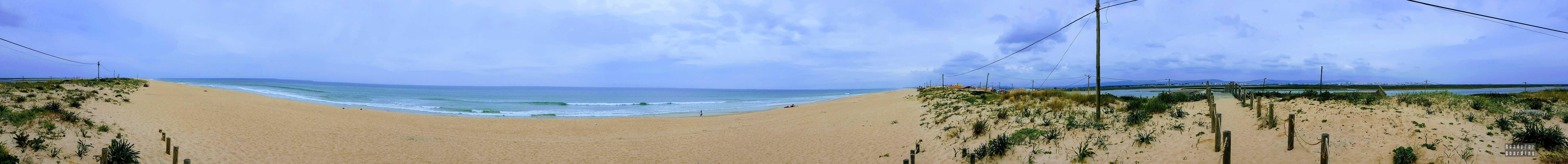Panorama: Praia de Faro, Algarve, Portugalia
