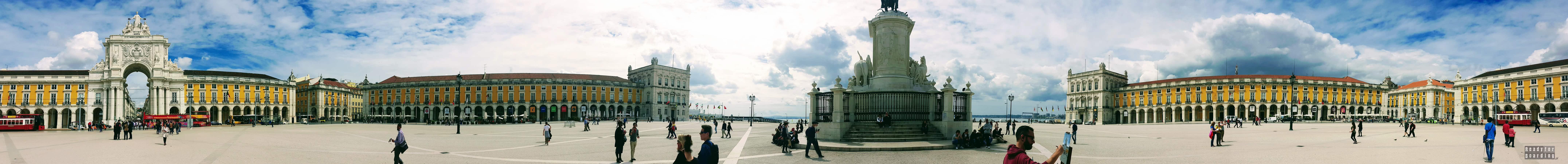 Panorama: Praca do Comercio - Lizbona