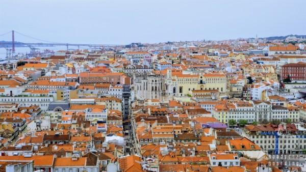 Panorama na Lizbonę z Zamku św. Jerzego