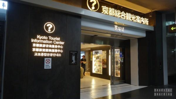 Kioto - Punkt informacji turystycznej na dworcu