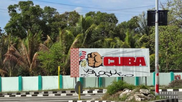 Kubańska propaganda w Cienfuegos - Kuba