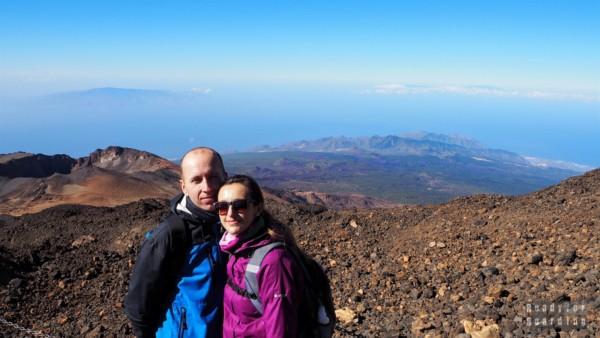 Widok na La Palmę, La Gomerę i El Hierro z Teide, Teneryfa