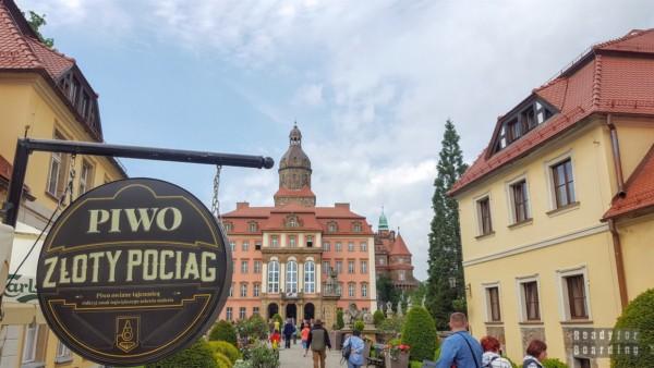 Zamek Książ - widok z przedzamcza