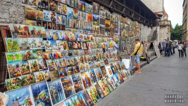 Obrazy pod Bramą Floriańską, Kraków