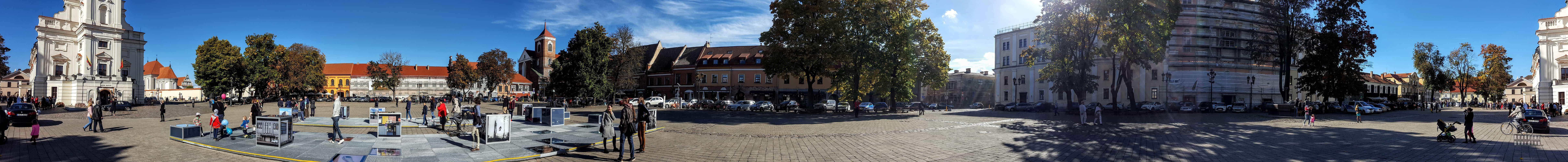 Panorama: Stary rynek, Kowno