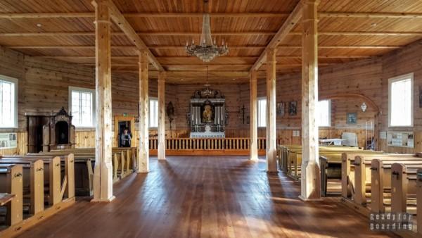 XIX wieczny kościół, skansen w Rumszyszkach - Litwa