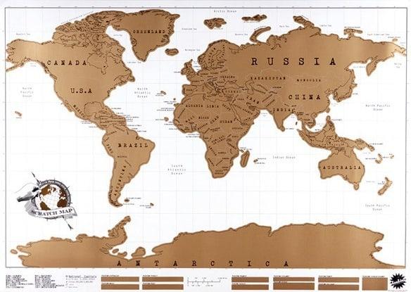 Prezent - Mapa ścieralna na ścianę