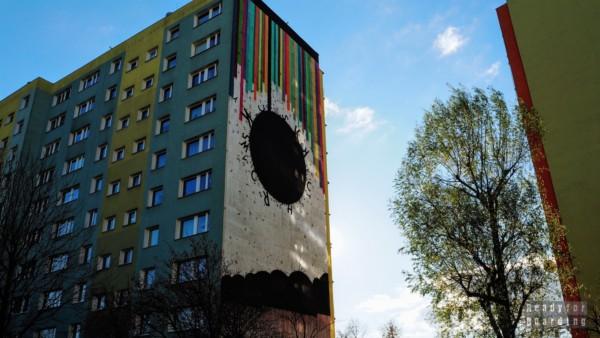 Wir i napromieniowanie tęczą, Opiemme - Murale na Osiedlu Zaspa - Trójmiasto