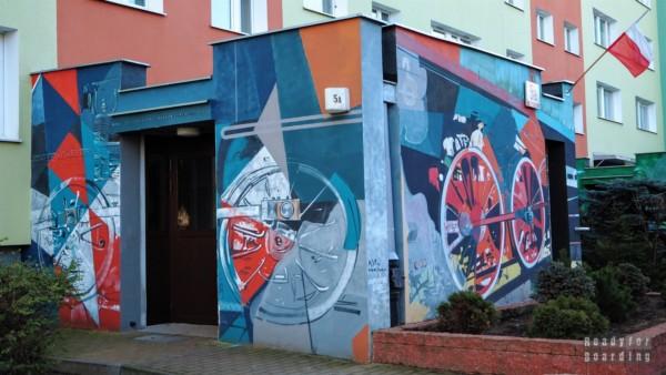 Klatki schodowe, Murale na Osiedlu Zaspa - Trójmiasto