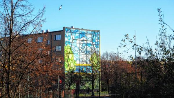 Mural K. Kuzko - Murale na Osiedlu Zaspa