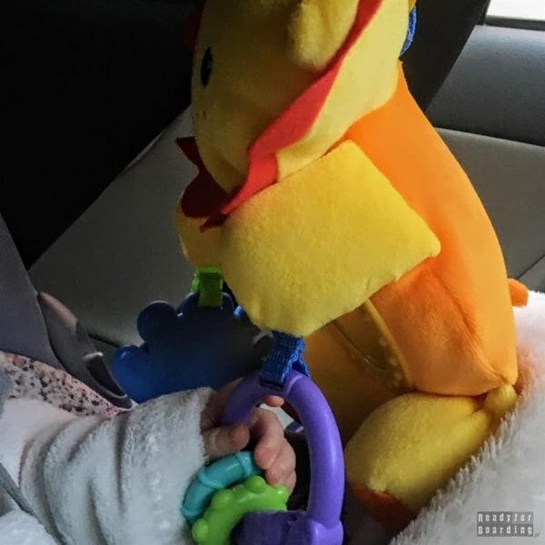 Grzechotka i inne zabawki do samochodu