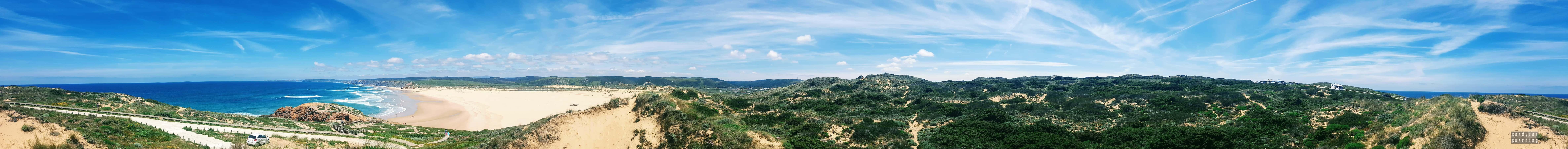 Panorama: Praia Da Bordeira, Algarve, Portugalia