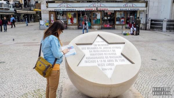 Gwiazda upamiętniająca ofiary działań antysemickich, Lizbona