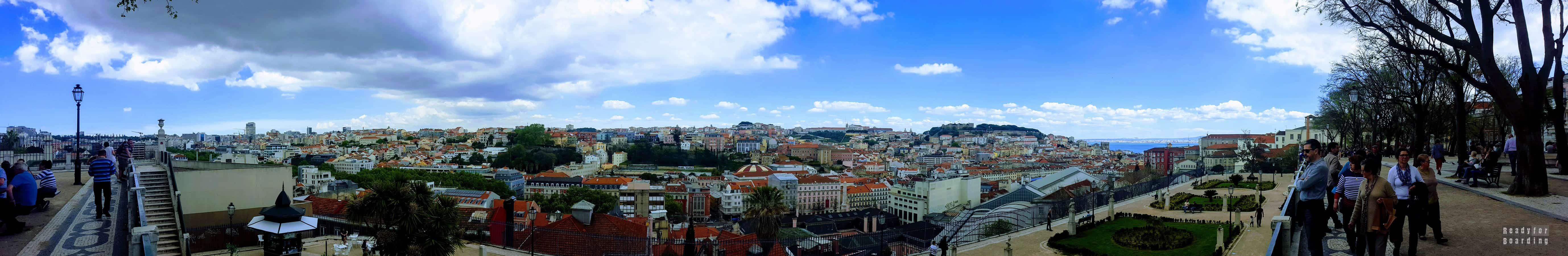 Panorama: Miradouro de Sao Pedro de Alcantara, Lizbona