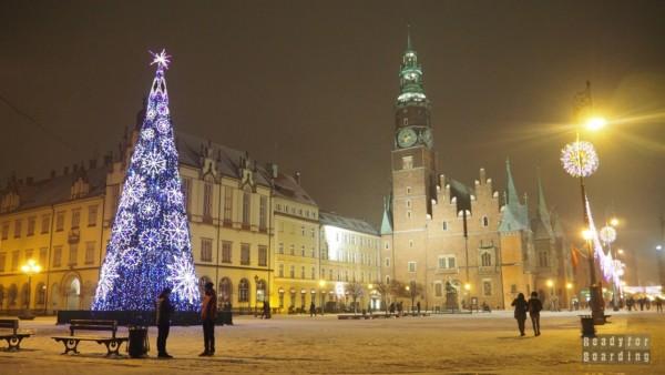 Wrocław wieczorową porą