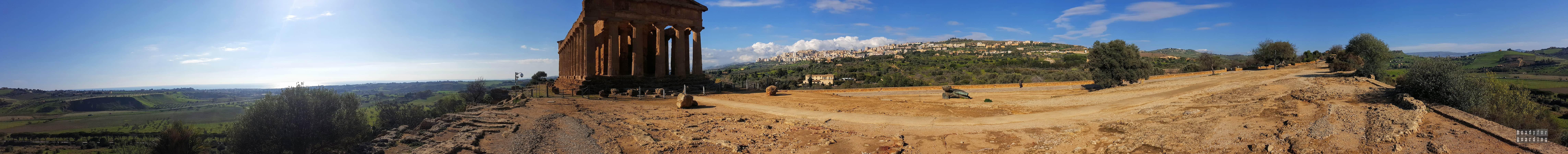 Panorama: Tempio della Concordia, Agrigento - Sycylia