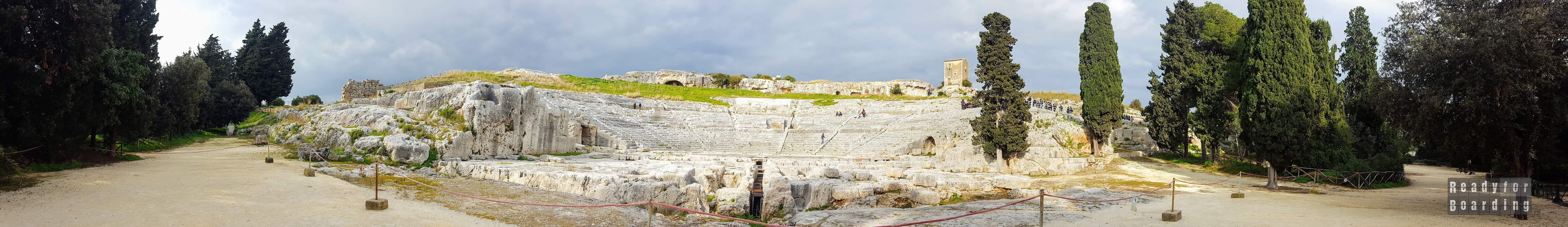 Panorama: Teatr Grecki w Syrakuzy - Sycylia