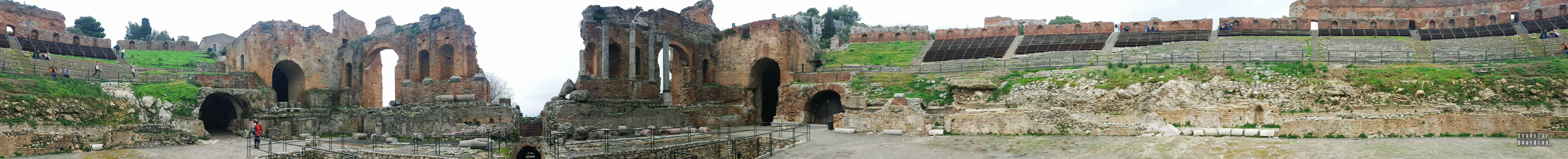 Panorama: Teatro Greco, Taormina - Sycylia