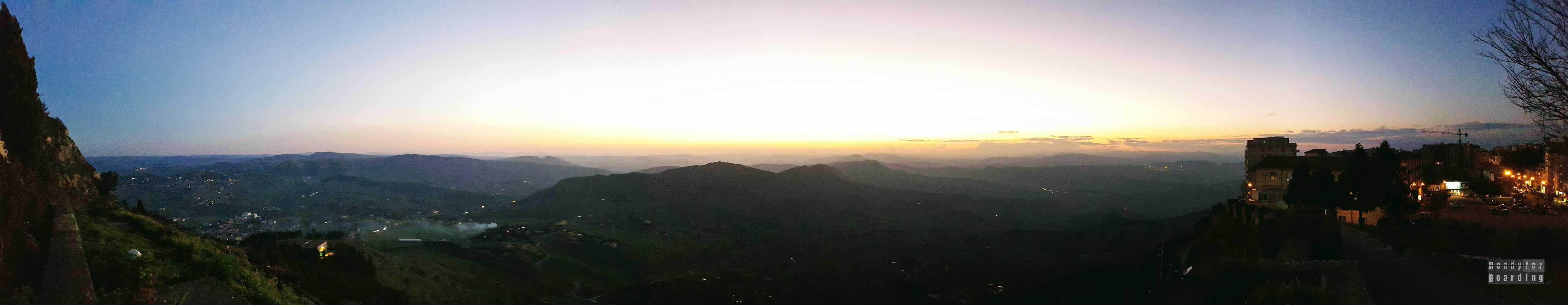 Panorama: Enna - Sycylia