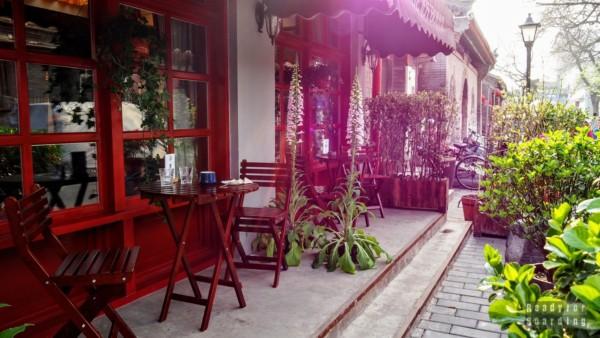 Kawiarnia na terenie hutognu w Pekinie