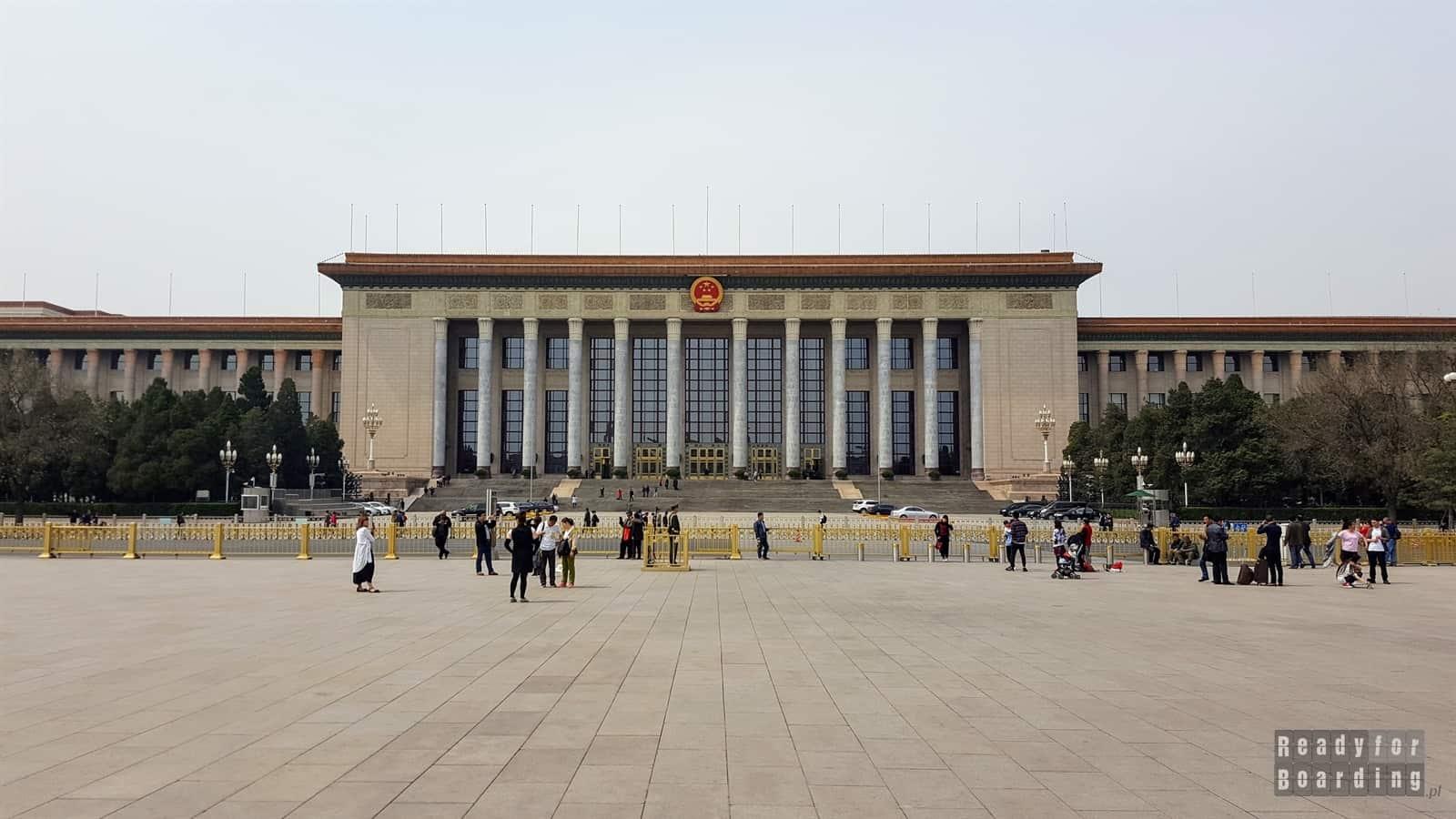 Wielka Hala Ludowa, Plac Tiananmen, Pekin