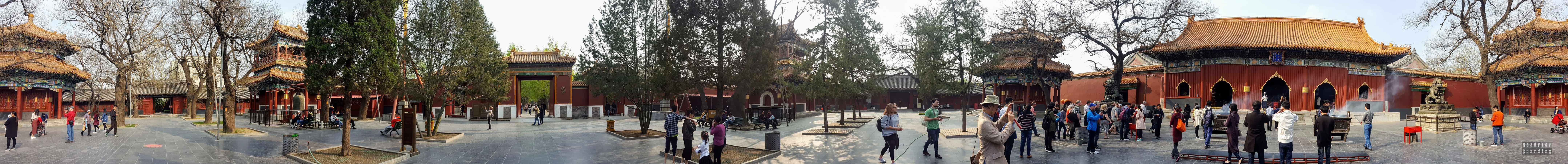 Panorama: Dziedziniec, Świątynia Lamy, Pekin