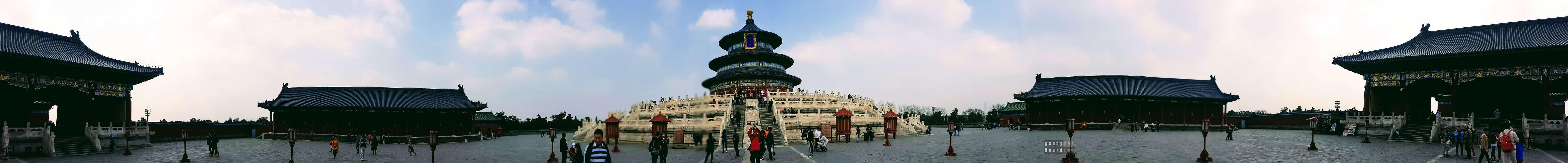 Panorama: Pawilon Modlitwy o Urodzaj, Świątynia Nieba, Pekin
