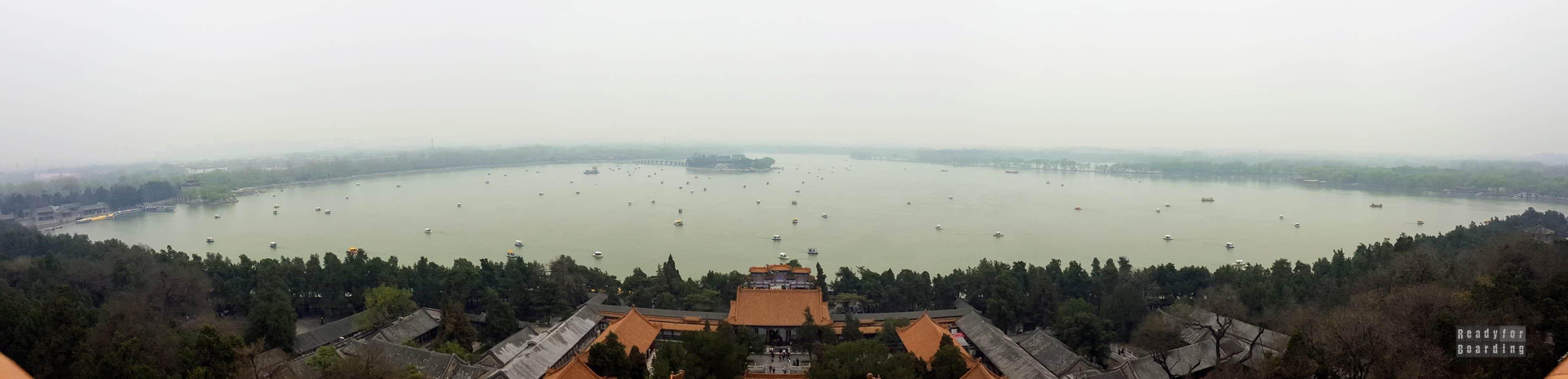 Panorama: Widok ze Wzgórza Długowieczności, Pałac Letni w Pekinie