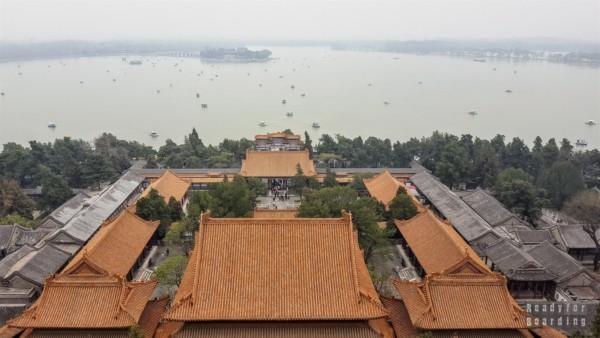 Widok ze Wzgórza Długowieczności, Pałac Letni w Pekinie