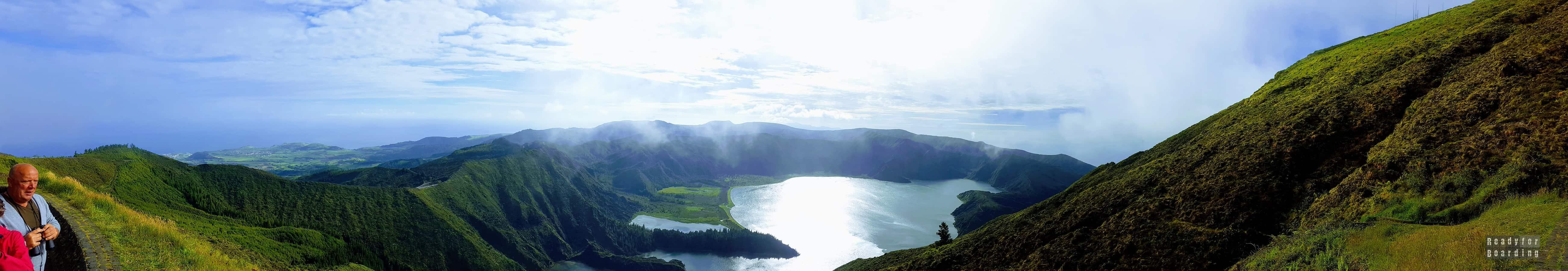 Panorama: Lagoa do Fogo - Sao Miguel, Azory