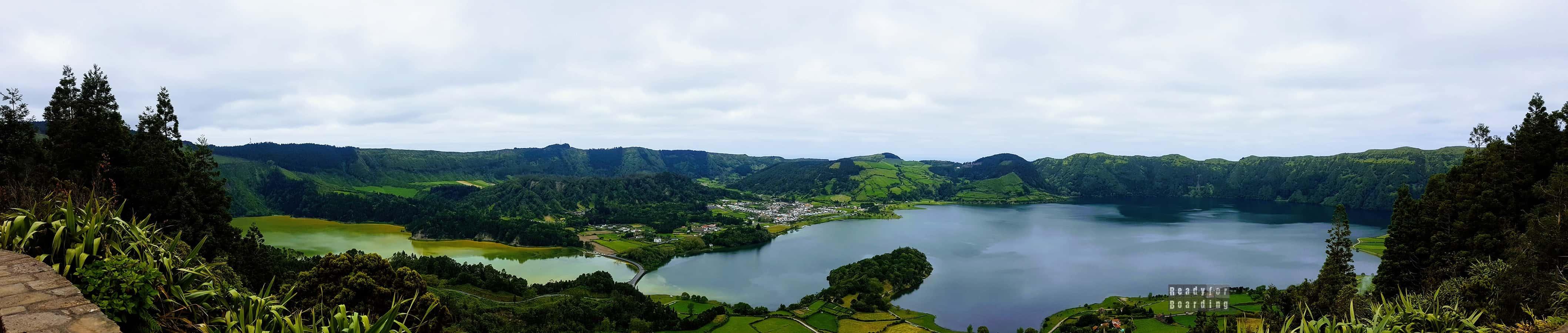 Panorama: Jezioro Niebieskie i Zielone, Azory
