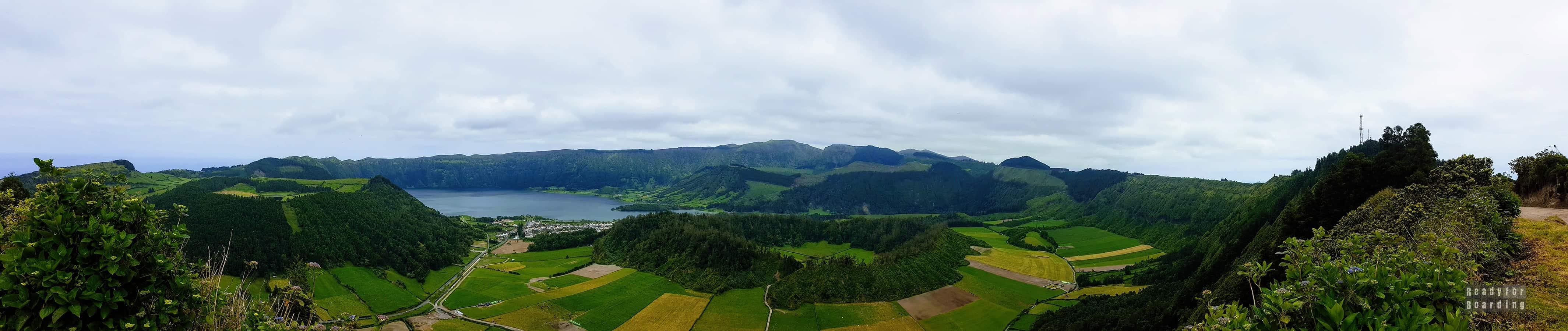 Panorama: Krater wulkanu, Azory