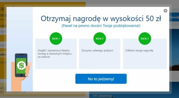 Zniżka 50 zł na Booking.com!