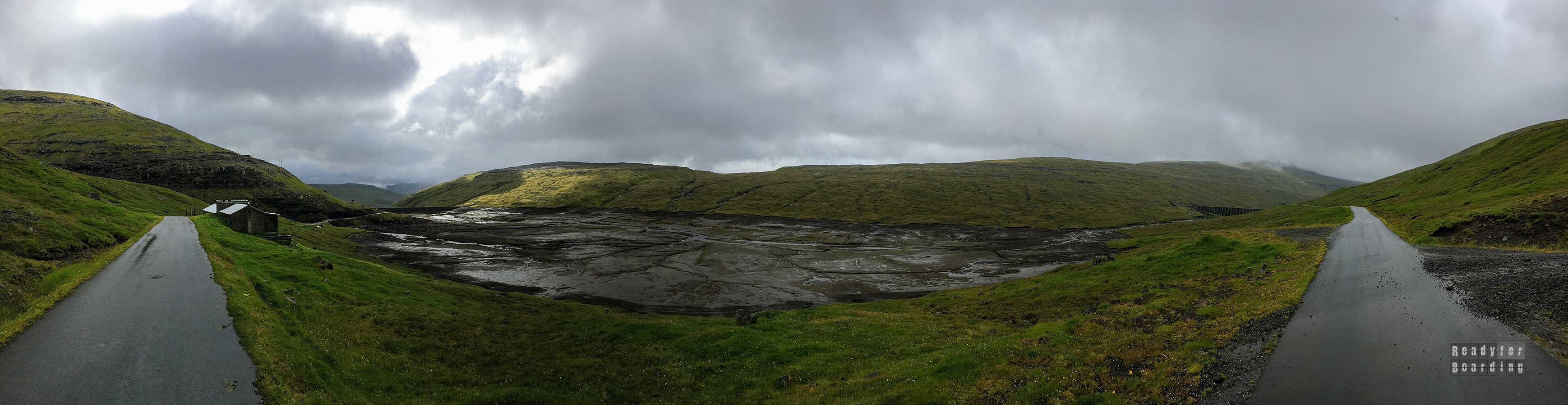 Panorama: Zbiorniki wodne w okolicach Vestmanny, Streymoy - Wyspy Owcze