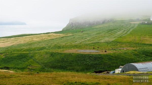 Lądowisko dla helikopterów w Gásadalur, Vágar - Wyspy Owcze