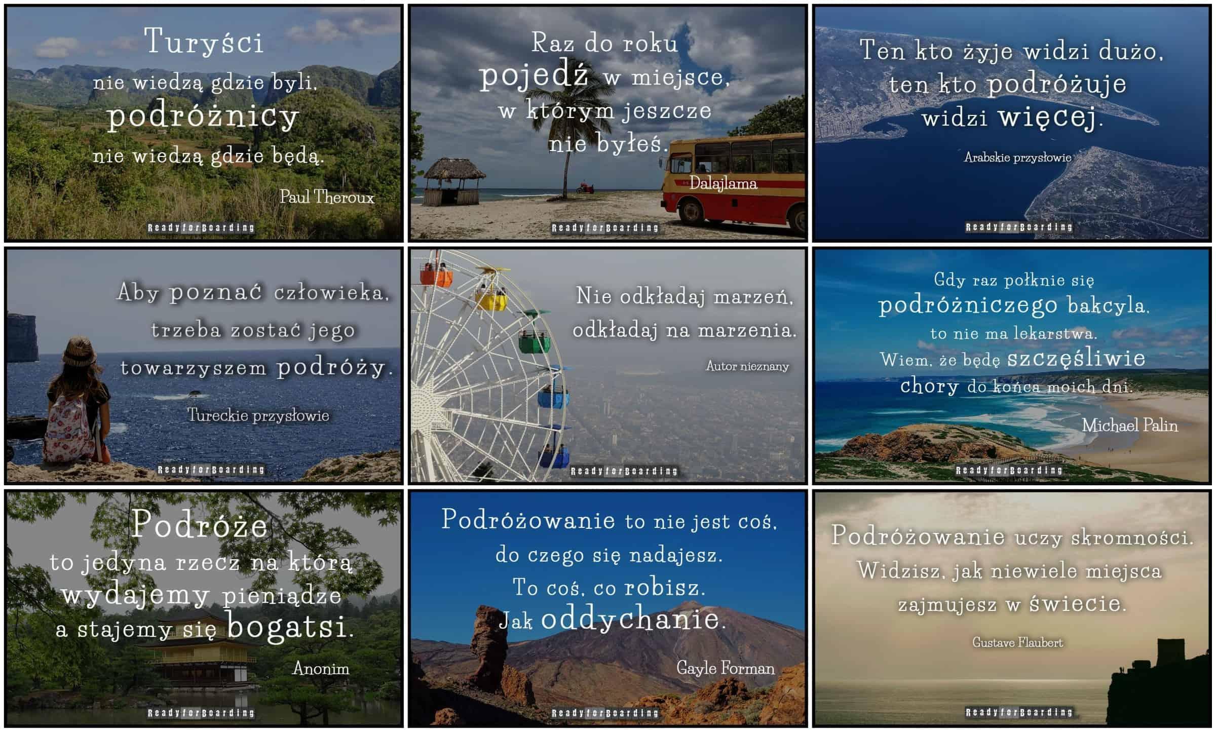 Najlepsze cytaty podróżnicze