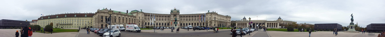 Panorama: Pałac Hofburg, Wiedeń - Austria
