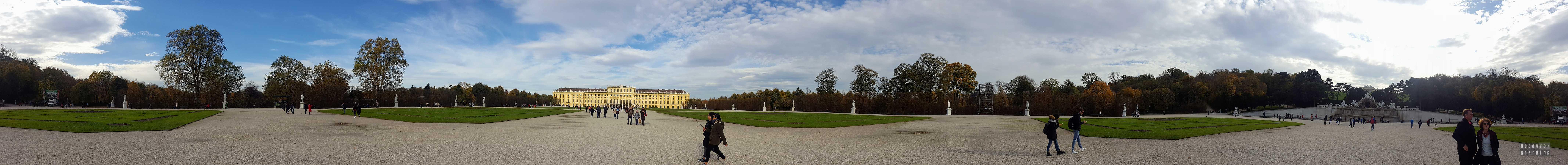 Panorama: Pałac Schönbrunn, Wiedeń - Austria