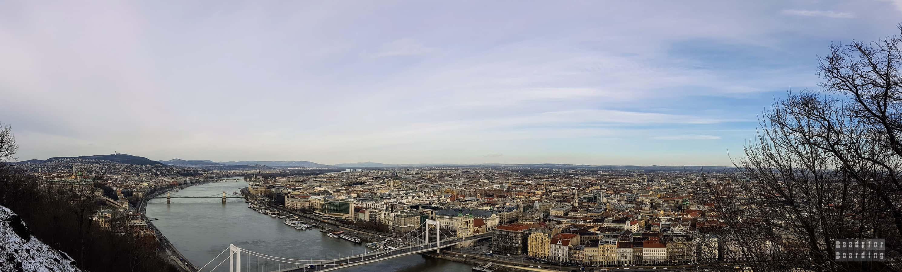 Panorama: Widok z Góry Gellerta, Budapeszt - Węgry