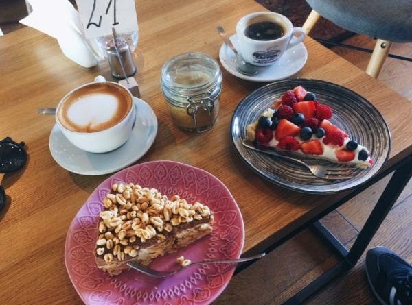 Łódź, Cafe przy ulicy