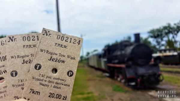 Kartonikowe bilety, Kolej Wąskotorowa w Rogowie