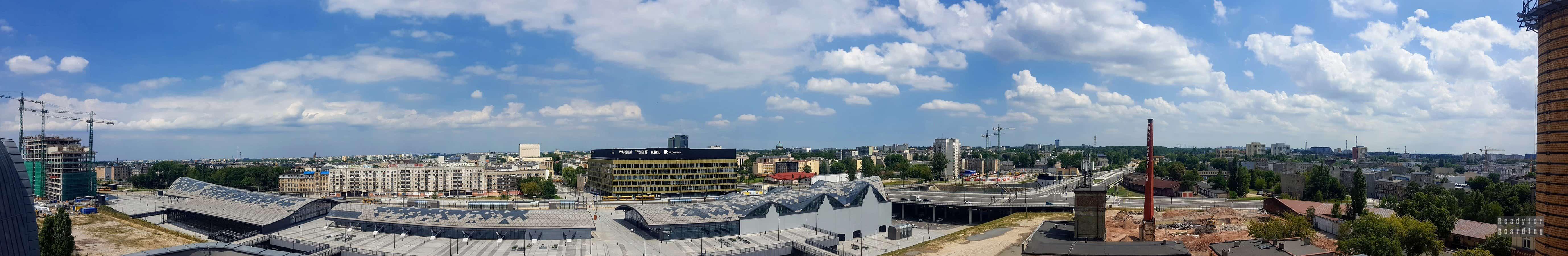 Panorama: Widok z EC1 Łódź