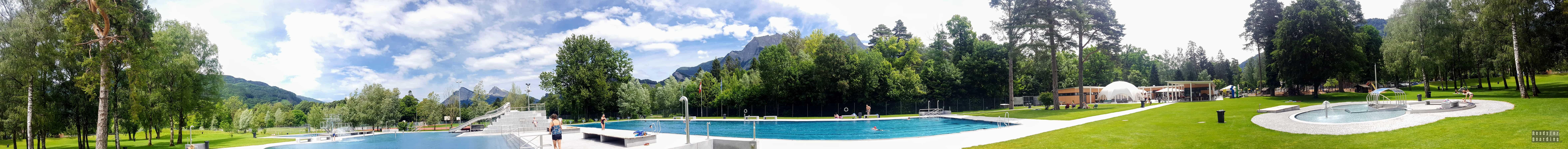 Panorama: Kempingi w Szwajcarii - Campingplatz Giessen Park
