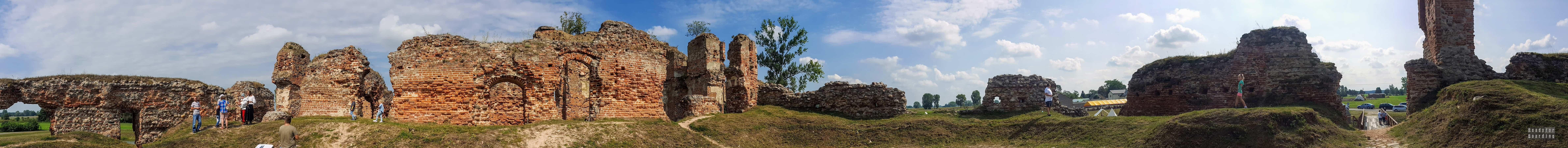 Panorama: Zamek w Besiekierach, województwo łódzkie