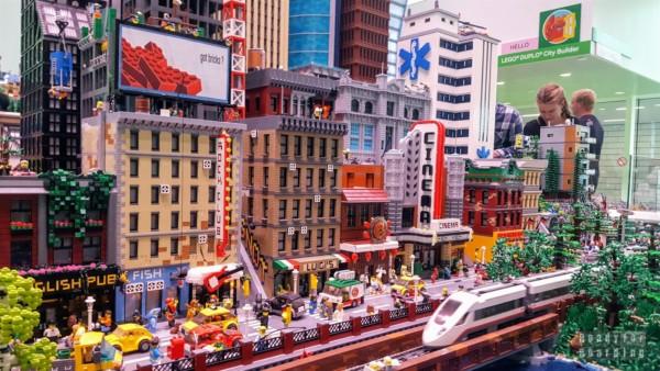 Makiety w Lego House - Billund, Dania