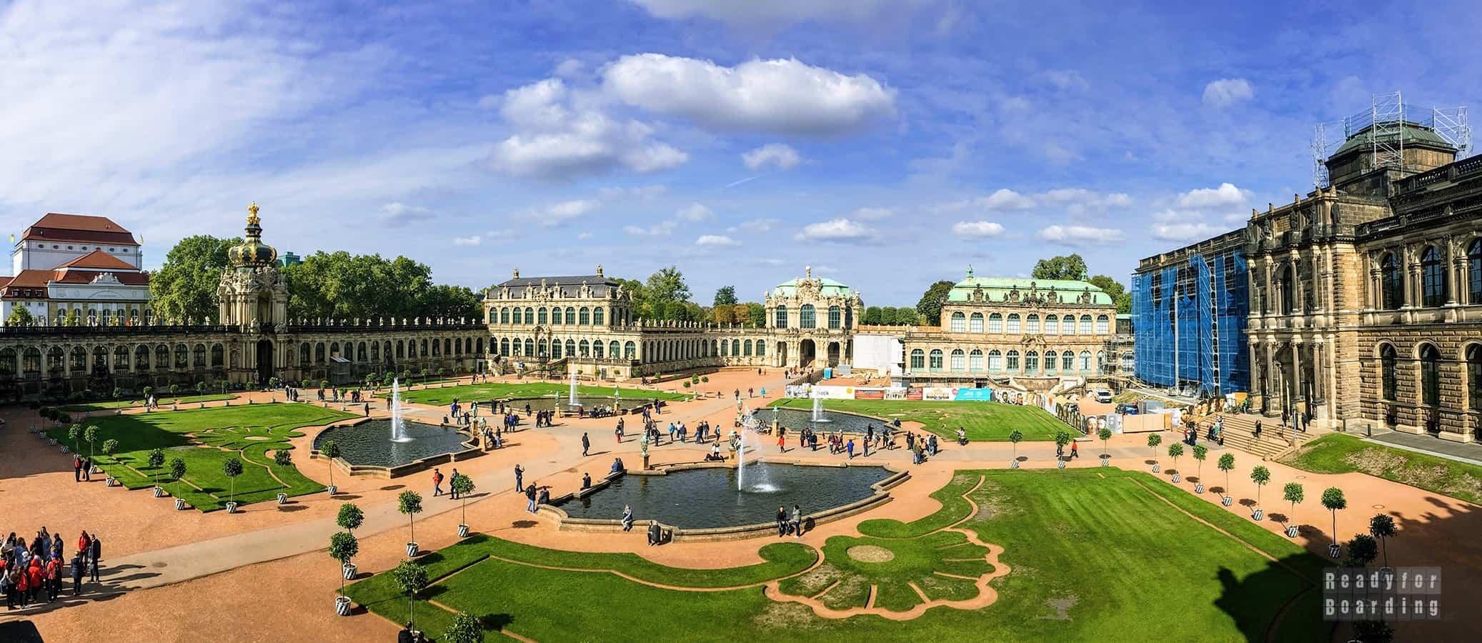 Panorama: Pałac Zwinger, Drezno - Niemcy