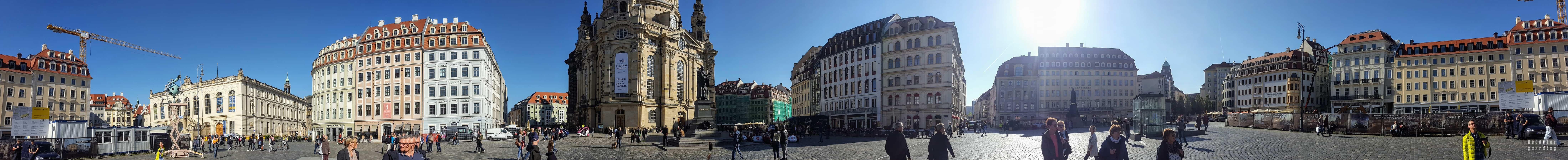 Panorama: Nowy Rynek w Dreźnie - Niemcy