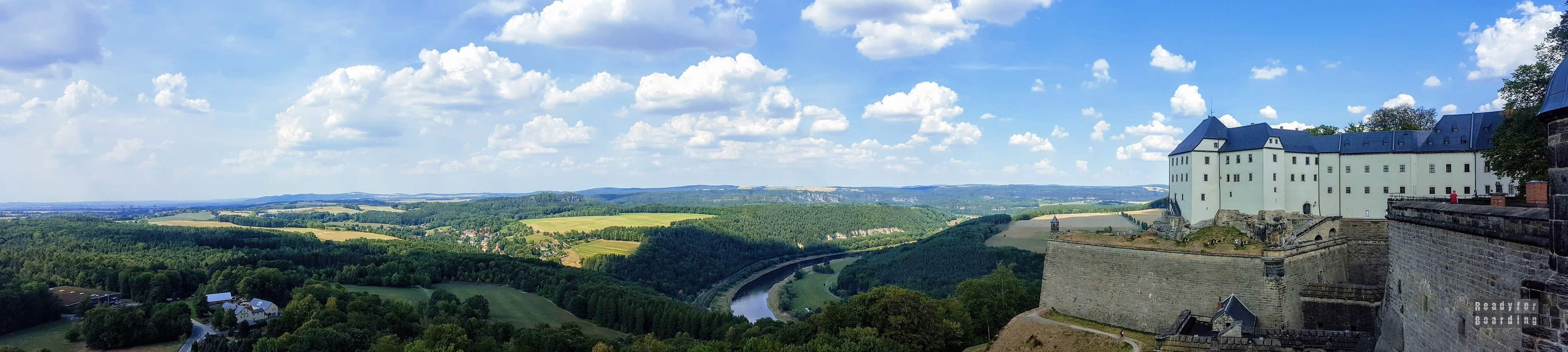 Panorama: Twierdza Königstein, Saksonia - Niemcy